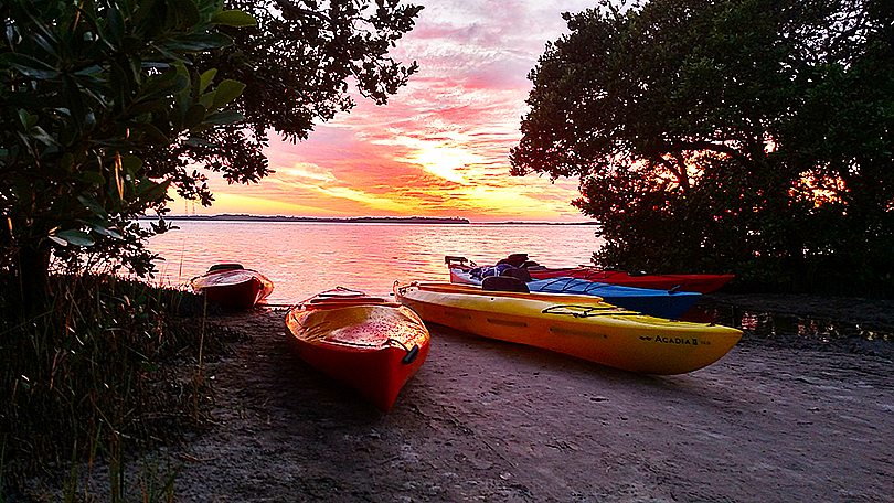 Island Kayak Tours sunset tour launch site